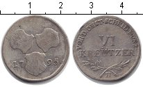 Изображение Монеты Австрия 6 крейцеров 1795 Серебро VF
