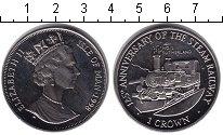 Изображение Монеты Остров Мэн 1 крона 1988 Медно-никель XF Паравоз