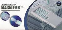 Изображение Аксессуары для монет Увеличительные приборы Карманная лупа прямоугольная с подсветкой (7007 B) 0