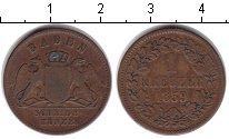 Изображение Монеты Германия Баден 1 крейцер 1859 Медь VF
