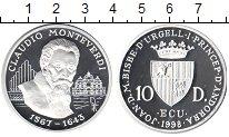 Изображение Монеты Андорра 10 динерс 1998 Серебро UNC-