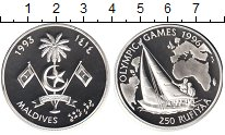 Изображение Монеты Мальдивы 250 руфий 1993 Серебро Proof-