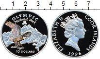 Изображение Монеты Острова Кука 10 долларов 1996 Серебро Proof-