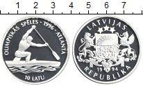 Изображение Монеты Латвия 10 лат 1994 Серебро Proof-