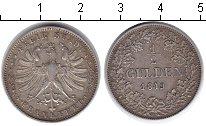 Изображение Монеты Франкфурт 1/2 гульдена 1849 Серебро VF