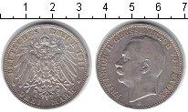 Изображение Монеты Баден 3 марки 1911 Серебро XF Фридрих II