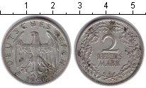 Изображение Монеты Веймарская республика 2 марки 1926 Серебро XF А