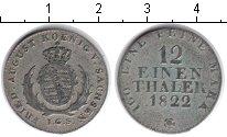 Изображение Монеты Саксония 1/12 талера 1822 Серебро XF