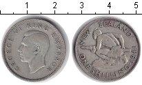 Изображение Монеты Новая Зеландия 1 шиллинг 1941 Серебро XF Георг VI