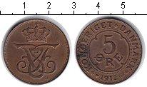 Изображение Монеты Дания 5 эре 1912 Медь XF