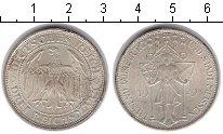 Изображение Монеты Веймарская республика 3 марки 1929 Серебро XF 1000-летие города Ме