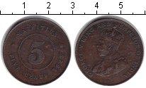 Изображение Монеты Маврикий 5 центов 1925 Медь VF