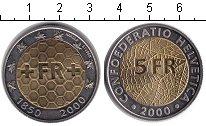 Изображение Мелочь Швейцария 5 франков 2000 Биметалл UNC-