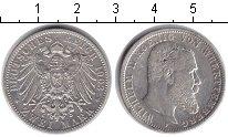 Изображение Монеты Вюртемберг 2 марки 1903 Серебро XF Вильгельм II.
