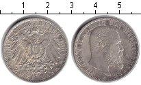 Изображение Монеты Вюртемберг 2 марки 1904 Серебро XF Вильгельм II.