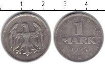 Изображение Монеты Веймарская республика 1 марка 1925 Серебро