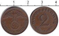 Изображение Монеты Третий Рейх 2 пфеннига 1938 Медь XF B.