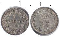 Изображение Монеты Вюртемберг 1 крейцер 1864 Серебро XF