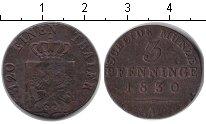 Изображение Монеты Пруссия 3 пфеннига 1830 Медь XF