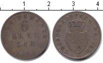Изображение Монеты Гессен-Дармштадт 6 крейцеров 1834 Серебро VF