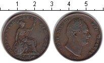 Изображение Монеты Великобритания 1 пенни 1837 Медь VF