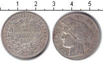 Изображение Монеты Франция 2 франка 1871 Серебро XF