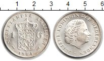 Изображение Монеты Антильские острова 1 гульден 1964 Серебро XF