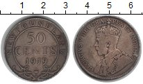 Изображение Монеты Ньюфаундленд 50 центов 1919 Серебро XF