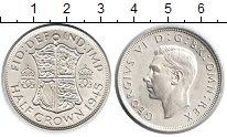 Изображение Монеты Великобритания 1/2 кроны 1945 Серебро XF