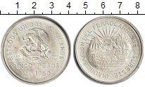 Изображение Монеты Мексика 5 песо 1950 Серебро UNC-