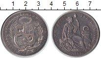 Изображение Монеты Перу 1 соль 1896 Серебро XF