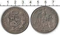 Изображение Монеты Перу 1 соль 1924 Серебро XF