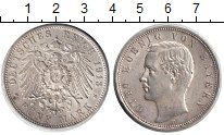 Изображение Монеты Бавария 5 марок 1913 Серебро UNC-