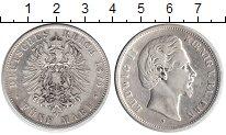 Изображение Монеты Бавария 5 марок 1876 Серебро XF