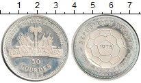 Изображение Монеты Гаити 50 гурдов 1977 Серебро UNC-