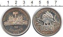 Изображение Монеты Гаити 50 гурдов 1977 Серебро Proof-