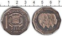 Изображение Монеты Доминиканская республика 1 песо 1984 Медно-никель Proof-