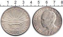 Изображение Монеты Куба 1 песо 1953 Серебро XF 100-летие Хосе Марти
