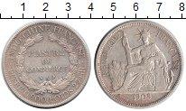 Изображение Монеты Индокитай 1 пиастр 1908 Серебро  Французский протекто