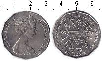Изображение Монеты Австралия 50 центов 1982 Медно-никель XF XII Игры Содружества