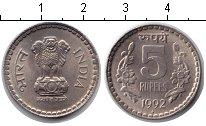Изображение Монеты Индия 5 рупий 1992 Медно-никель XF