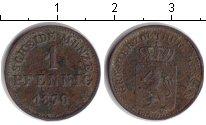 Изображение Монеты Гессен-Дармштадт 1 пфенниг 1870 Медь