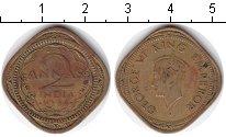 Изображение Монеты Индия 2 анны 1944 Медь XF
