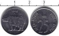 Изображение Монеты Индия 25 пайс 1998 Медно-никель XF