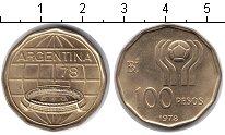 Изображение Монеты Аргентина 100 песо 1978  UNC- Чемпионат мира по фу