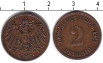 Изображение Монеты Германия 2 пфеннига 1914 Медь XF