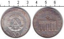 Изображение Монеты ГДР 20 марок 1990 Серебро XF Берлин