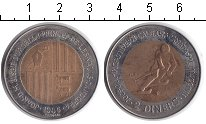 Изображение Монеты Андорра 2 динера 1985 Биметалл XF Олимпийские игры.