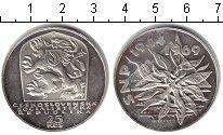 Изображение Монеты Чехословакия 25 крон 1969 Серебро UNC- 25 лет освобождения