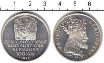 Изображение Монеты Чехословакия 100 крон 1978 Серебро Proof- Карл